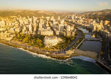 Beautiful aerial view of Vina del Mar, Chile