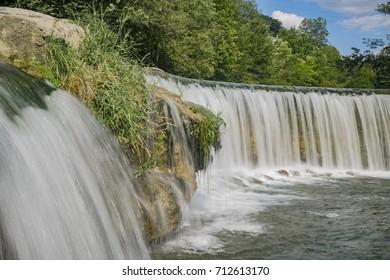 The beautiful Affenschlucht waterfall at Winterthur, Zurich, Switzerland