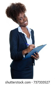 Beautiful african american businesswoman at work