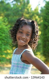 A beautiful african american child