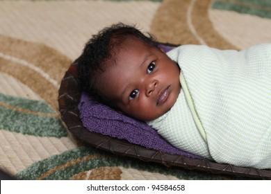 Beautiful African newborn