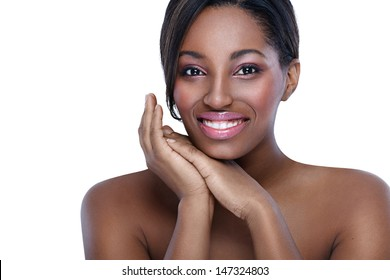 Beautiful African woman, concept healthy and pure skin
