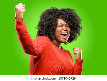 Beautiful african woman irritated and angry expressing negative emotion, annoyed with someone