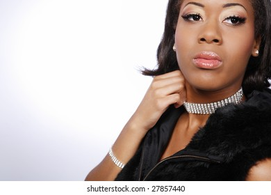 Beautiful African-American girl.2.