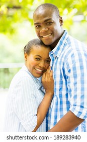 beautiful afro american couple outdoors