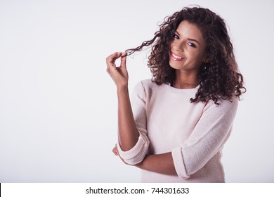 With woman hair playing Playwith Hair
