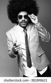 Beautiful afro business man