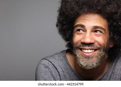 Beautiful afro man posing