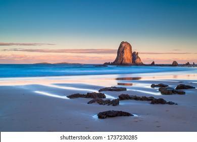 A beautiful afternoon on Glasshouse Rocks Beach near Narooma, NSW, Australia