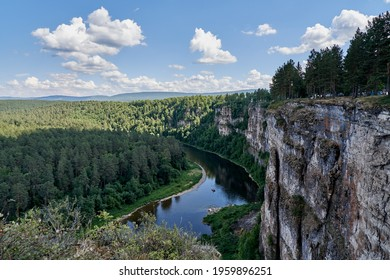 Beautiful Ai river in the Southern Urals