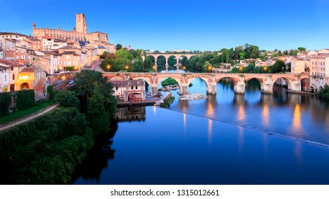 Beautiful Albi in Southwestern France. Albi is a world heritage UNESCO site. Albi is famous for Toulouse-Lautrec and the Cathedral Sainte Cecile.