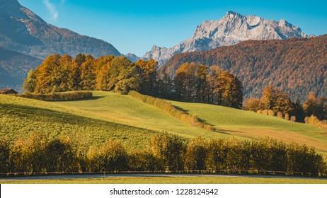 Beautiful alpine autumn view near Berchtesgaden-Bavaria-Germany