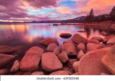 Beautiful Alpine Lake Tahoe in California