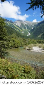 Beautiful alpine landscape from Kamikochi, also known as the Japan Alps from Chubu Sangaku National Park, Nagano Prefecture.