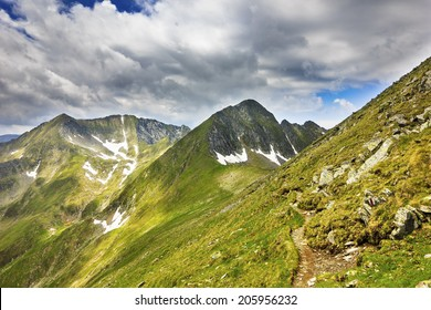 Beautiful alpine landscape from  Parang  mountains,Romania