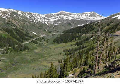 Beautiful Alpine landscape in Rocky Mountains, Colorado where many 13ers and 14ers are located