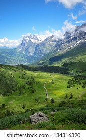 Beautiful Alpine Mountain Scenery
