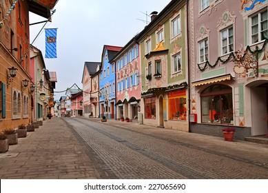 Beautiful Alpine Town of Garmisch-Partenkirchen, Germany.