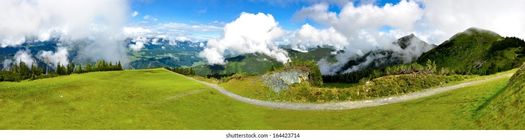 Beautiful Alps panorama in summer