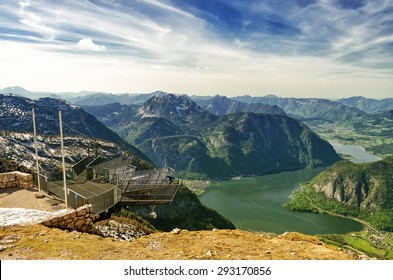 Beautiful Alps view from Dachstein Mountain with 5 Fingers viewing Platform