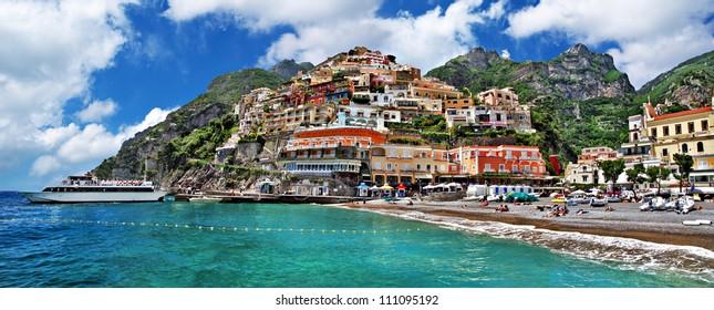 beautiful Amalfi coast - Positano town