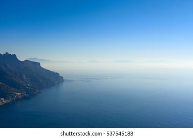 beautiful amalfi coast view in south Italy