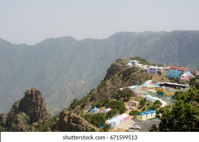 """The beautiful and amazing countryside in Abha city south area of Saudi Arabia """"Alsouda Highland"""". Mountain view"""