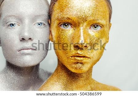 Beautiful Amazing Portrait Two Woman Unreal Stock Photo (Edit Now