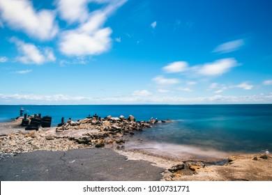 Beautiful Amity Point beach on Stradbroke Island, Queensland