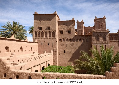 the beautiful Amridil Kasbah (castle) in the oasis of Skoura, Morocco