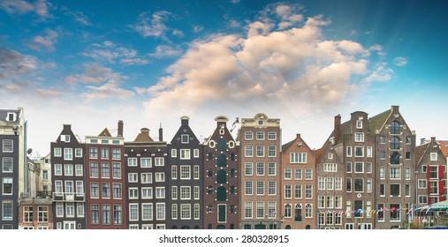 Beautiful Amsterdam skyline, The Netherlands.