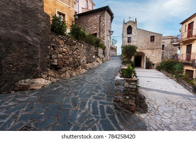 Beautiful ancient church (Chiesa di s. Giorgio) in Castelmola, near Taormina, Sicily.