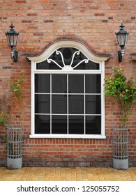 beautiful ancient editable shop window - the file includes a clipping path for the window content