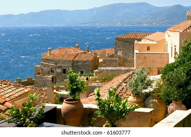 Beautiful ancient town of Monemvasia, Greece