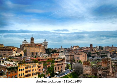 Beautiful ancient town. Rome, Italy