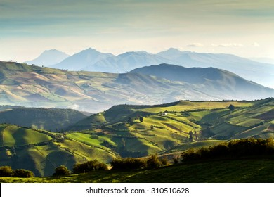Beautiful andean highland landscape view from Nono, Ecuador