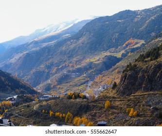 Beautiful Andorra on an autumn day