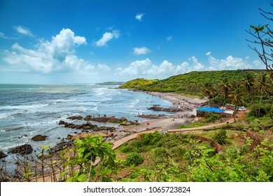 Beautiful Anjuna Beach of Goa, Famous tourist destination, Goa, India