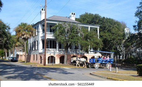 Beautiful antebellum house in Beaufort South Carolina
