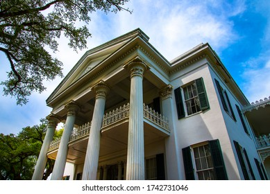 Beautiful Antebellum House in Natchez Mississippi in the USA. This house is now a museum. Antebellum means Before the War