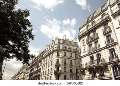 beautiful antique city building in france, Europe