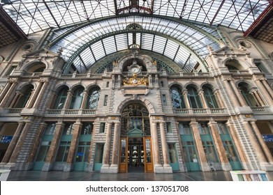 Beautiful Antwerp central station in belgium