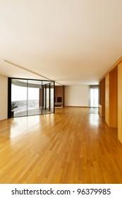 beautiful apartment, interior, big empty room