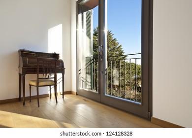beautiful apartment, interior, classic deck