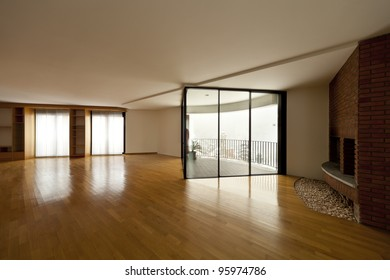 beautiful apartment, interior hardwood floors, large windows and fireplace