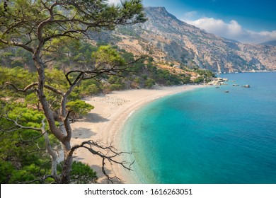 Beautiful Apella beach on Karpathos island,Greece