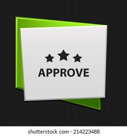 Beautiful Approve web icon