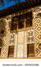beautiful Arab architecture and pattern, majestic building in the rays of the sun