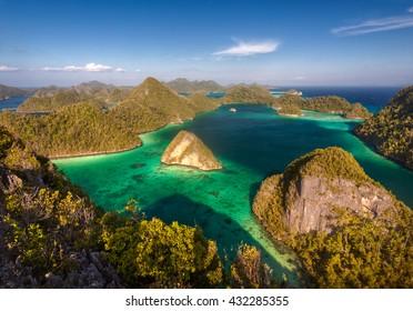 Beautiful archipelago of Raja Ampat ( Four Kings ). Indonesia