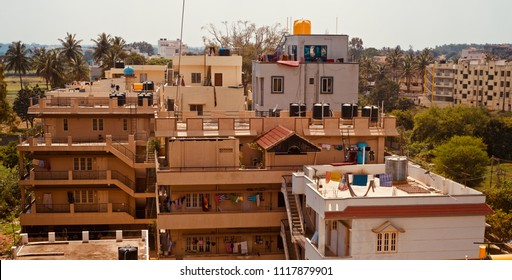 Beautiful architectural buildings of an urban area in Bangalore India unique photo